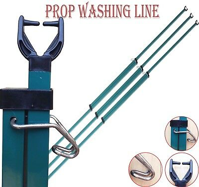 2.7M Heavy Duty Line Prop Telescopic Washing Line Extending Clothes Pole Support