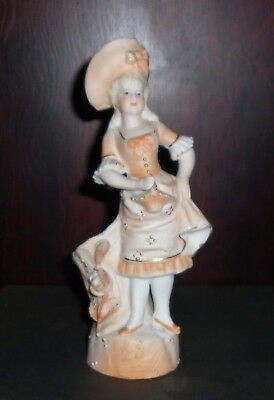 Victorian Bisque Porcelain Lady Vase Excellent Condition