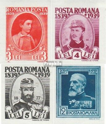 Romania 590B-593B unmounted mint / never hinged 1939 King Karl I.