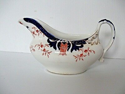 Very Old Staffordshire Stoke on Trent Gravy Boat, c.1891- 1900