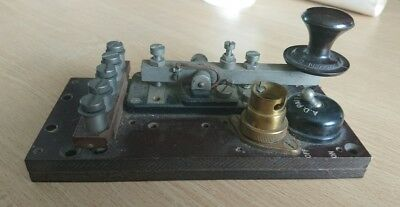 Naval Buzzer Repeater and Key Unit - Morse Telegraph - Incomplete