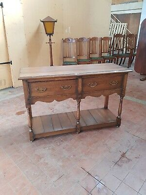 Antique/reproduction Solid Oak Pot Board Dresser Base/sideboard/server/drawers