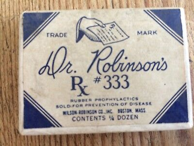 Dr. Robinson's Rx #333 paper box collectible vintage