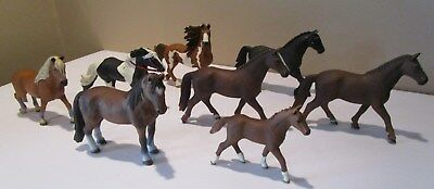 Schleich Horse Lot 8 Horses, Colt, SAFARI LIMITED 2010 Streaming Light