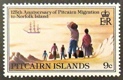 1981 Pitcairn Islands Decimal Stamps - 125th Ann Migration to Norfolk Is-9c MNH