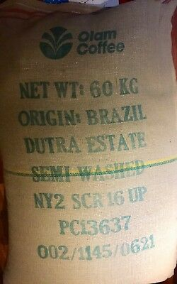 2 lbs BRAZIL Dutra Estate16/18 Semi-Washed Green Coffee Beans Bourbon 2018 Crop