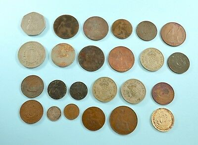Job lot of British coins - 1897-1971 - pennies sixpence half penny half crown