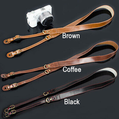 Leather Neck Shoulder Strap for Digital Camera Mirrorless DSLR TLR FUJIFILM SONY