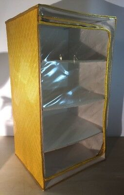Vintage Yellow Store Aid Plastic 4 Drawer Storage Unit Zipper Retro Mod Cabinet