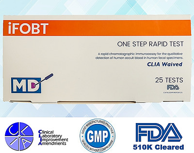 Fecal Occult Blood Test Kit - iFOBT Blood Test -New Technology -25 Single Tests