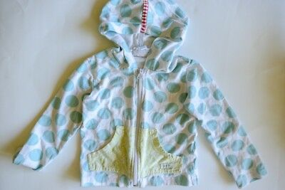 Naartjie Kids Girls Hoodie Zip Up Jacket Polka Dot Pink Size sz 4