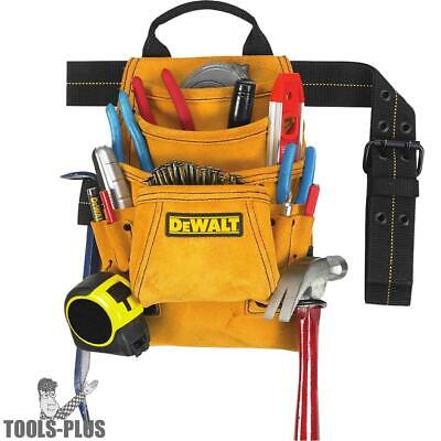 DeWalt DG5333 10-Pocket Carpenter's Suede Nail and Tool Bag New
