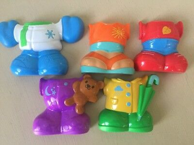 Fisher Price Dress and Go Puppy Replacement Clothes Clip On Set of 5