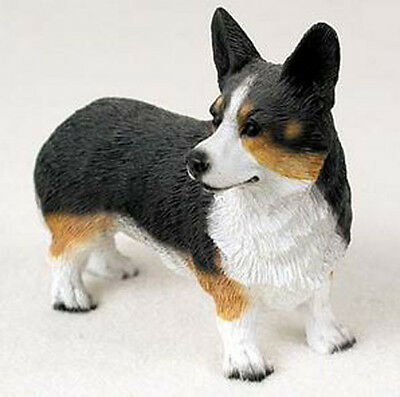 WEST CORGI CARDIGAN DOG Figurine Statue Hand Painted Resin Gift Pet Lovers