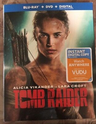 Tomb Raider (Bluray + DVD + Digital HD) Brand New w/Slipcover