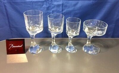 Baccarat Crystal Narcisse Set Water + Wine + Coupe Champagne + Vermouth Glass