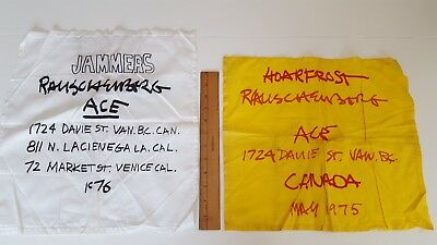 LOT of 2 -- 1975 / 1976 Vintage Rauschenberg Exhibition ACE Art Gallery Cloth Ad