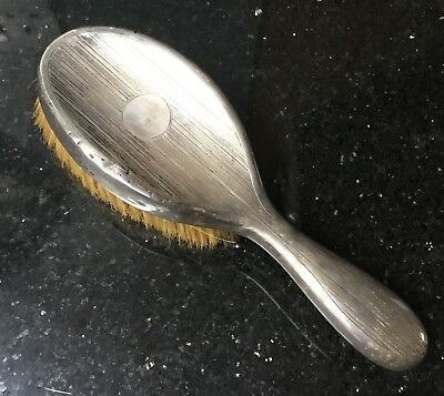 Old Vintage Early 20th Century Sterling Silver Hallmarked Hair Brush Approx 150g