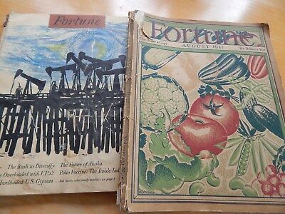Vintage Fortune Magazines 1937 and 1955