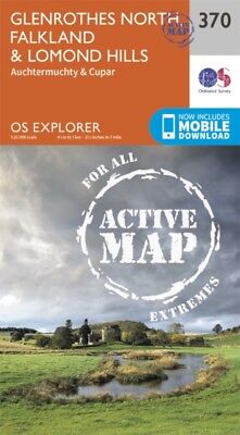 OS Explorer Map Active (370) Glenrothes North Falkland and Lomond H...
