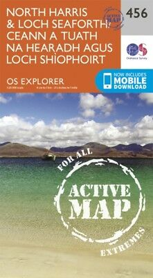 OS Explorer Map Active (456) North Harris and Loch Seaforth/Ceann a...