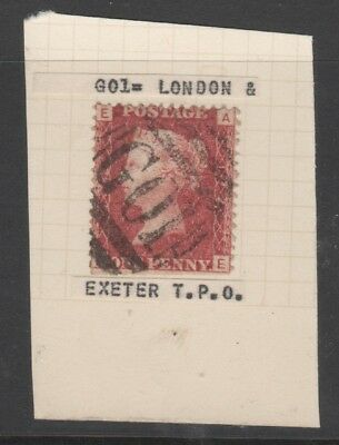 G01 London & Exeter Tpo Cancel On Queen Victoria Penny Red