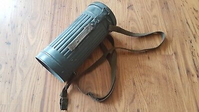 Post WW2 German gas mask tin. Ideal for re-enactment