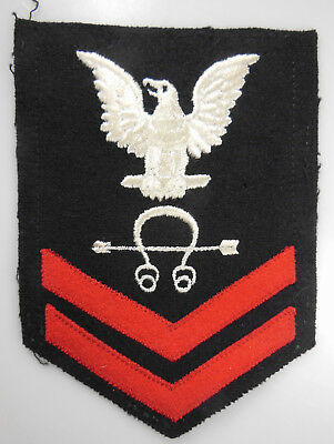 AUTHENTIC WWII US NAVY RATE, SONARMAN 2ND CLASS (SoM2c)