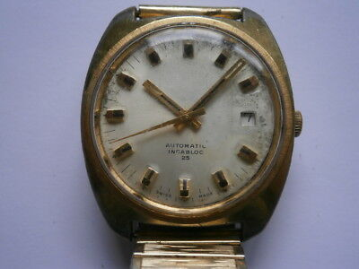 Vintage gents wristwatch automatic watch working ETA 2783 swiss made