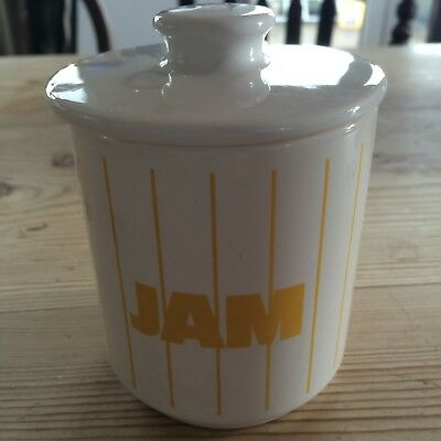 hornsea stripes yellow vintage jam dish in good used condition 1970s 1980s
