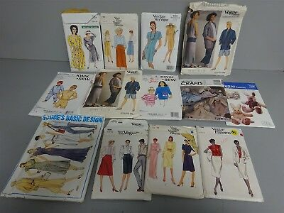 Sewing Craft Patterns Lot of 13 Very Easy Vogue Perry Ellis 8245 7462 1522 ++