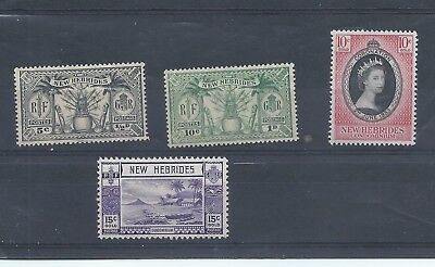 New Hebrides Condominium stamps. A few MH stamps. From 1925, 1938 & 1953 (C037)