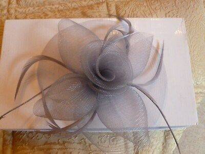 Ladies grey fascinator