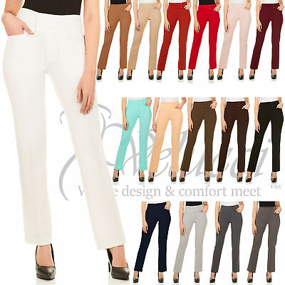 Womens Slight Boot Cut Dress Pants For Office Wear For Everyday Occasion.