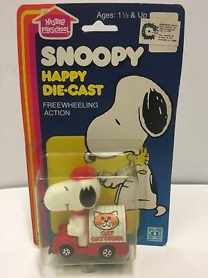SNOOPY HAPPY DIE-CAST - CAT CATCHER - '80s HASBRO - MADE IN HONG KONG - M.O.C.