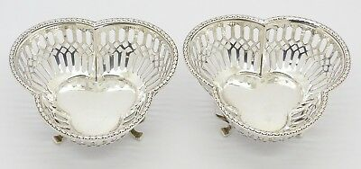 Gorgeous Pair Of Antique Mappin & Webb Solid Silver Dishes Hm 1919 - Great Gift!