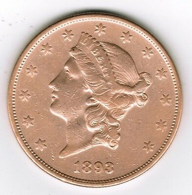 1893-S $20 Gold Liberty Double Eagle Coronet Head San Francisco Estate Find