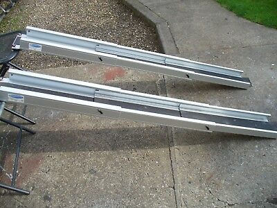 Pair Telescopic Wheelchair Ramps.Mobility Scooter Ramps.Telescopic Loading Ramps