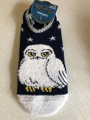 Harry Potter Hedwig Footlets/slippers..brand New..size 4-8..