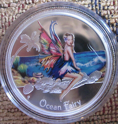 Ocean Fairy 1/2 oz Proof Silver Coin from the Perth Mint, Colorized, Cute