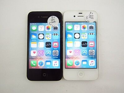 Lot of 2 Apple iPhone 4S A1387 Cricket Check IMEI Grade B/C 3