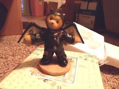 Enesco Cherished Teddies 270016 Barry Im Batty Over You Halloween Bear Bat Wings