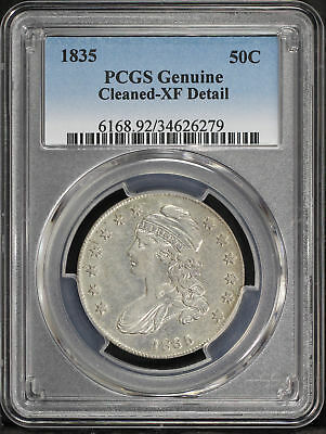 1835 Capped Bust Silver Half Dollar PCGS XF Details Cleaned -167833
