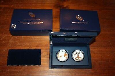 2012 American Eagle West Point  Two Coin Silver Set In Original Pack Proof USA
