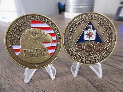 Special Activities Division Cyber Warfare PSYOPS CIA SOG SAD Challenge Coin