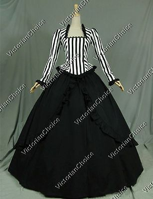 Victorian Gothic Gown With The Wind Dress Steampunk Reenactment Wear N 321 S