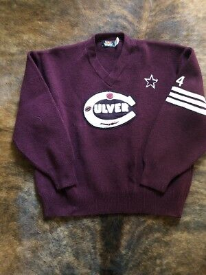 Vintage Culver Military Academy Heavy Mens Basketball Swim Lettermans Sweater XL