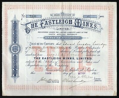 1895 South Africa: The Castleigh Mines, Limited
