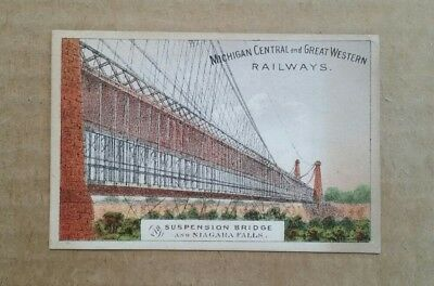 Michigan Central & Great Western Railways,Trade Card,1880's