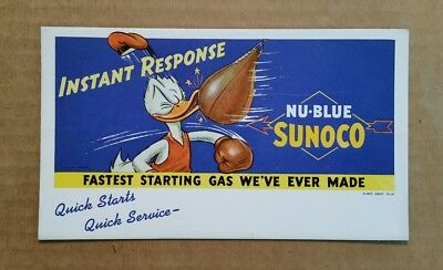 Nu-Blue Sunoco,Donald Duck Ink Blotter,1941